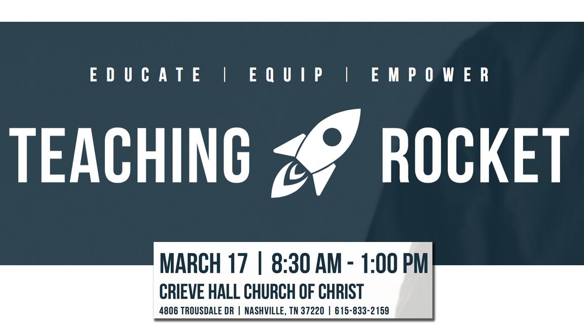 2018 Crieve Hall Teacher Training - March 17, 2018 - 8:30 AM to 1:00 PM - CRIEVE HALL CHURCH OF CHRIST